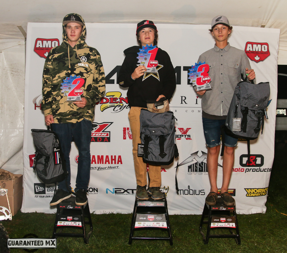 Schoolboy 2 Sponsored by New Era: 3rd Seth McDowell, 2nd Kyle Brown, and AMO Champ Tyler Evanitski.