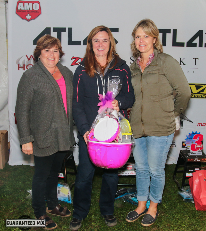 Tammy Jones (left) and Tammy Thirnbeck (right) made a couple sweet baskets for moms. First winner – Momma Roberts