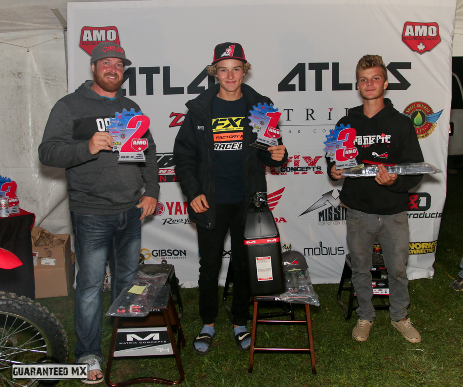 Open Pro-AM Sponsored by Matrix Concepts: 3rd Duncan MacLeod, 2nd Kyle Keast, and AMO Champ Austin Watling